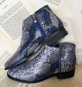 648422d23e77 NEW Vanessa Wu gray blu Snakeskin Embossed Bought at Anthropologie ...