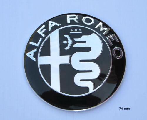 Alfa Emblème Insigne Calandre Coffre AUTOCOLLANT 74 mm logo 2016 chromé Giulia