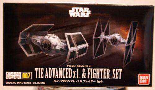Star Wars 007 Tie Advanced /& Tie Fighter Set 1:144 Bandai 214502