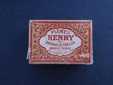 Ancienne boite plume HENRY de BAIGNOL & FARJON 387 old nib nibs box
