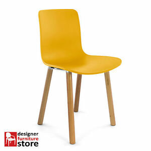 Replica-Jasper-Morrison-Hal-Dining-Chair-Yellow-Seat-Beech-Wood-Legs