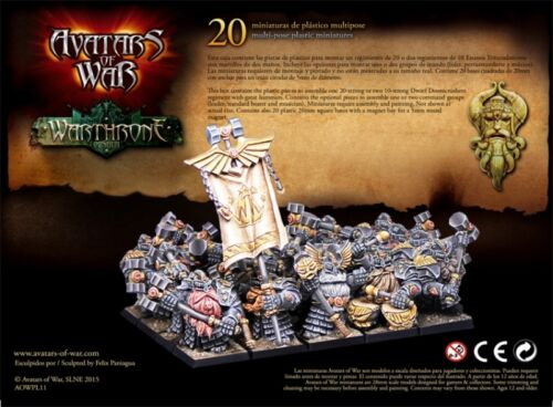 AVATARS OF WAR Dwarf Doomcrushers x20 Box  *Warhammer Style*