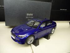 BMW M5 F10 2012 San Marino Blue DEALER Edition Paragon Kyosho 1:18 Free Shipping