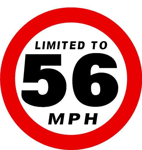 qty 5 x LIMITED TO 56MPH STICKER VAN BUS CAR COACH BUSINESS