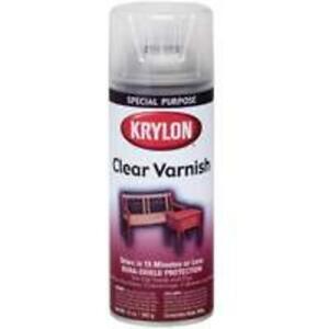 details about krylon k07001 high gloss clear varnish spray 11 oz. Black Bedroom Furniture Sets. Home Design Ideas