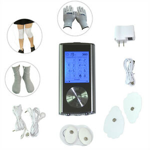 8-Modes-LCD-Electrode-Pulse-Therapy-Massager-Tens-Massage-Gloves-amp-Socks-amp-Kneelet