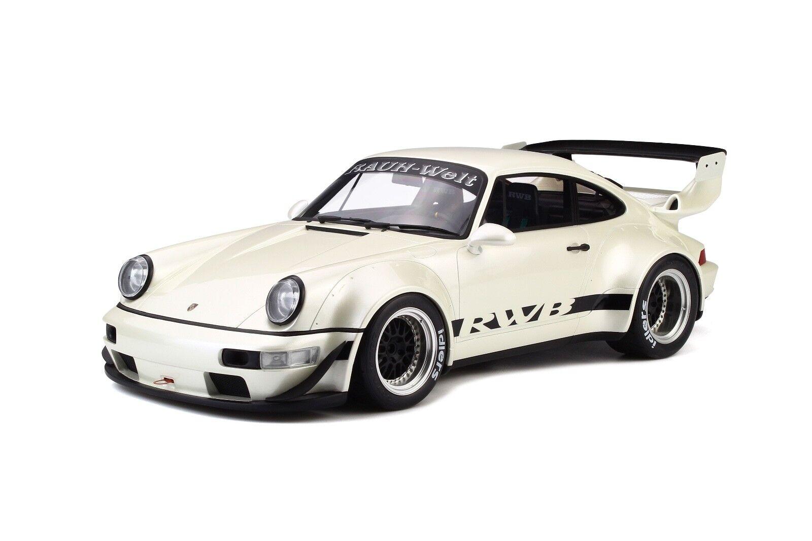 1/12 GT Spirit Porsche 911 (964 ) RWB Coupe in Pearl White GT173