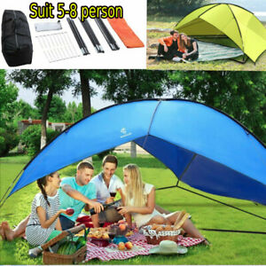 5-8 Person Outdoor Canopy Portable Camping Sun Shade Shelter Triangle Beach