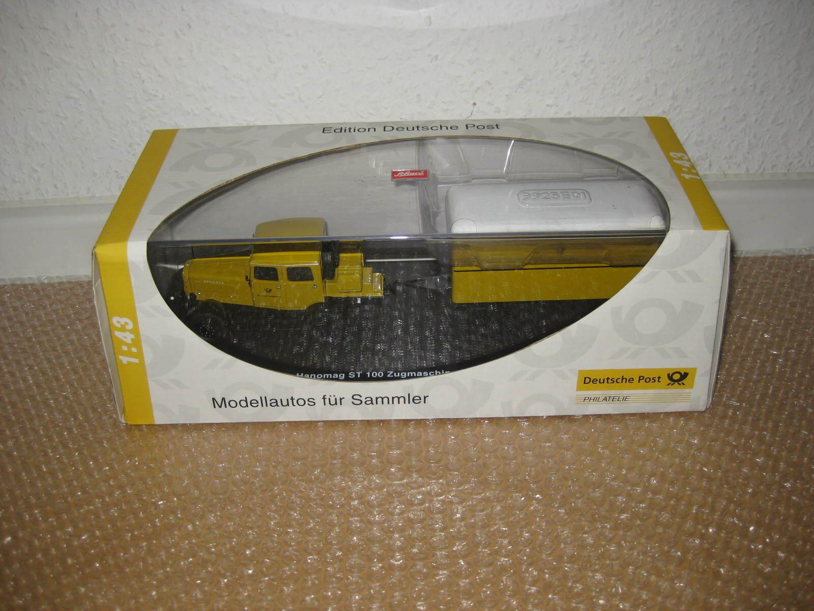 Schuco 1 43 Edition Deutsche Post Hanomag ST100 mit Anhänger in OVP Neu  S275