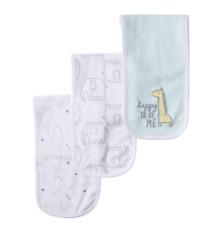 Gerber Baby Girl 3 Pack Terry Burp Cloth Bears Flowers NIP