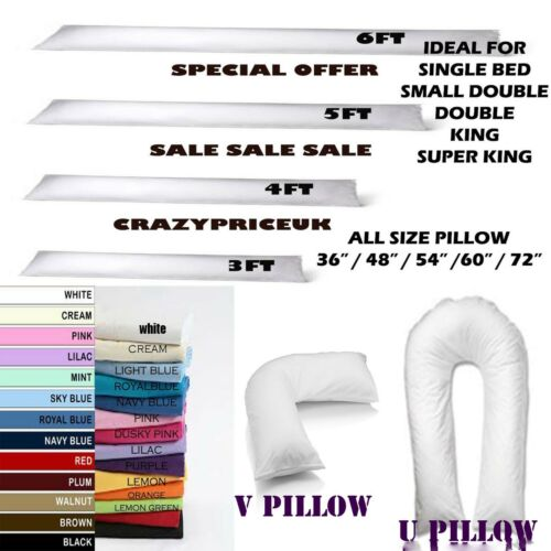 """NEW BOLSTER DOUBLE BED AND//OR COVER MATERNITY PILLOW 54/"""" LONG 4FOOT 6 INCH"""