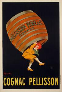 Original-Vintage-Poster-L-CAPPIELLO-Cognac-Pellisson-liqueur-Large-1907