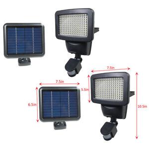 2 PACK 150 SMD LEDs Solar Powered Black Motion Sensor ...