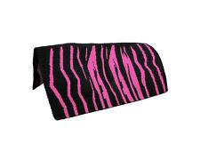 """34/"""" x 36/"""" Western Wool Zebra Print Horse Western Saddle Blankets"""
