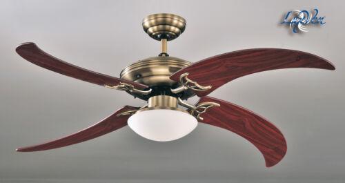 Luxven ® ventilateur plafond antique laiton unique ailelv-161ab bois de rose