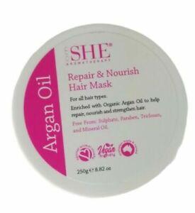 OM She Aromatherapy Repair & Nourish Argan Oil Hair Mask 8.82 oz /250G NEW!