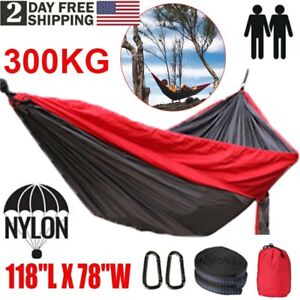 118 X78 Outdoor Travel Hanging Hammock Nylon Camping Swing Chair Bed Garden Ebay