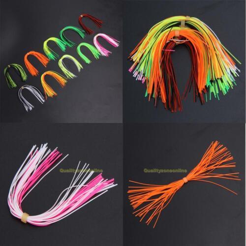 10 Bundles Legs Barred Flake Fly Tying Squid Silicone Skirts Lure Thread Fishing