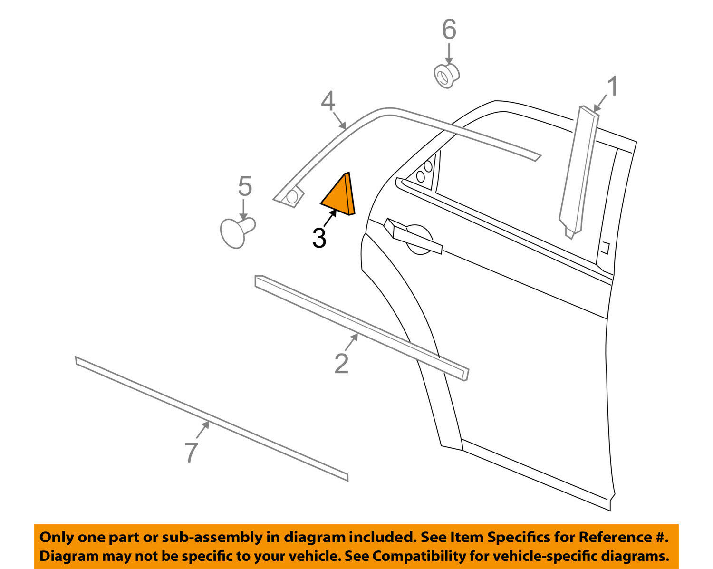 CHRYSLER OEM 05-10 300 Exterior-Rear-Corner Molding Right 4805818AD