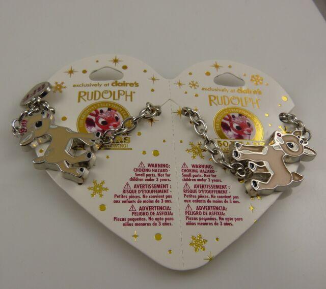BFF Rudolph Clarice bracelets Charm Bracelet best friends red nosed reindeer