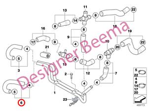MINI R53 R52 Coolant Hose JS Lower