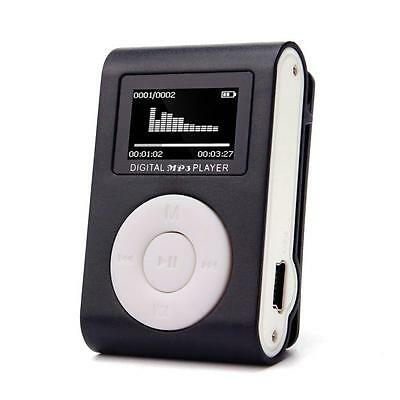 Moda Mini USB Clip Reproductores de MP3 LCD Screen Support 32GB Micro SD TF Card