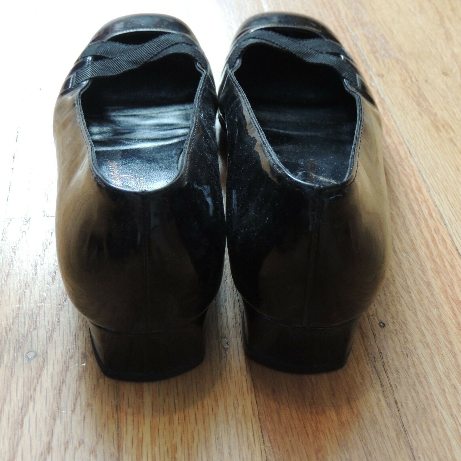 Salvatore Ferragamo Patent Leather Flats Black Size Size Size 9 ef97a5