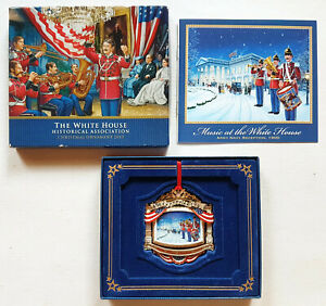 2010-WHITE-HOUSE-CHRISTMAS-ORNAMENT-William-McKinley-GOLD-PLATED-w-BOX