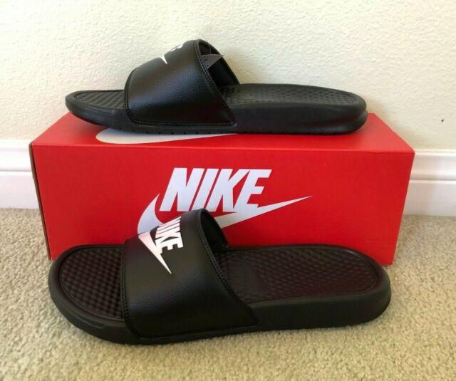 Nike Men Sandal Benassi Swoosh Black