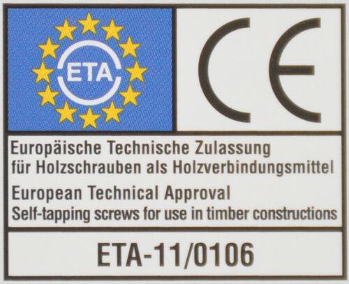 Reisser HSK 50x Holzbauschrauben Tellerkopf Torx Schaftfräser Holzschraube