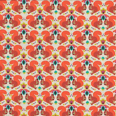 SQUIRREL on nature Cotton Fabric Per Metre 50x150