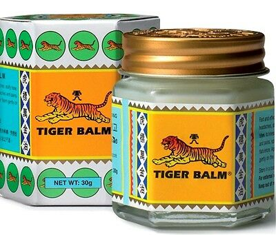 30g Tiger Balm White ointment massage muscle rub aches pain relief FREE SHIPPING