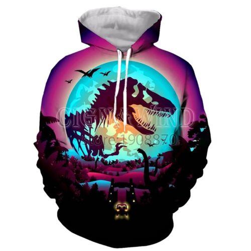 New Fashion Women//Men Jurassic World 2 3D Print Casual Hoodie Sweatshirt K279