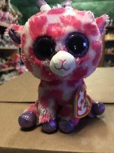 "1dd5ded529b Ty TWIGS -Pink White Valentine s Giraffe 6"" Beanie Boo!  Retired ..."