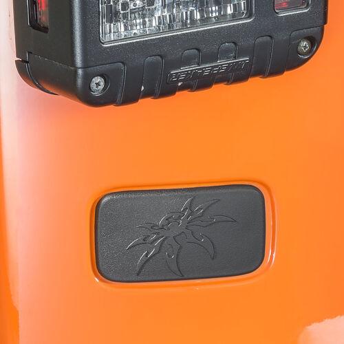 Poison Spyder Rear License Plate Delete Cover For 2007-2018 Jeep Wrangler JK