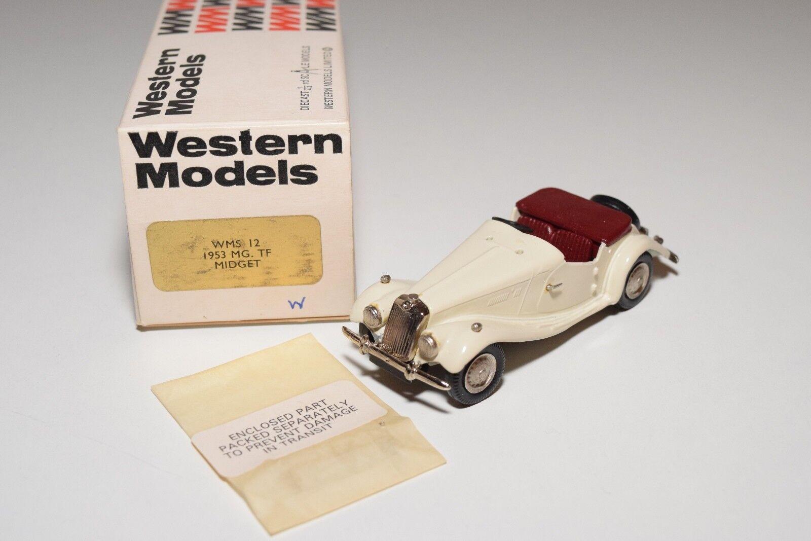 I WESTERN WESTERN WESTERN MODELS WM WMS 12 MG TF MIDGET 1953 CREAM MINT BOXED 5b1b73