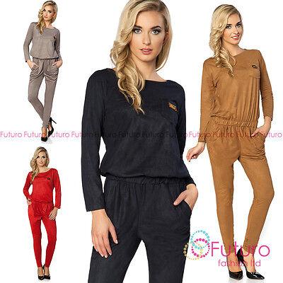 Womens Party Jumpsuit Evening Playsuit Trouser Long Bodycon Sizes 8-18 Ft2836 Zu Hohes Ansehen Zu Hause Und Im Ausland GenießEn