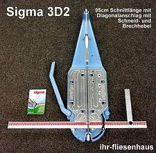 Sigma Profi Fliesenschneider 3D2 Schnittlänge 95cm Diagonalanschlag Brechvorr.