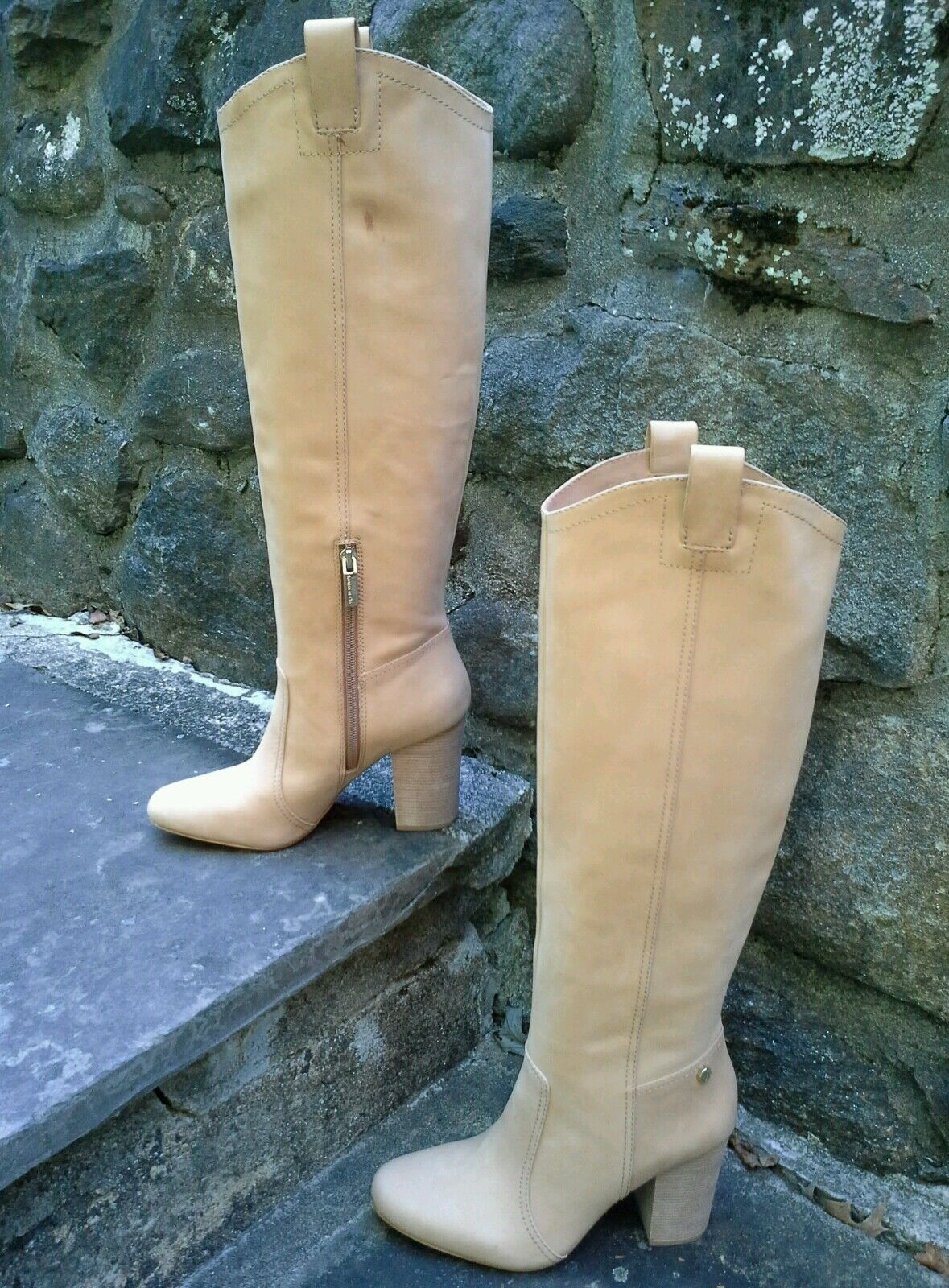 il più alla moda Louise Louise Louise Et Cie Kiernan Western Block Heel Sleek avvio Leather Tan 6.5   36.5  260  prima i clienti