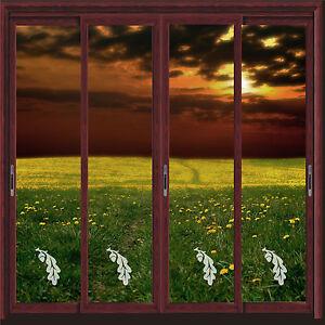 ACORN-OAK-VINYL-ETCH-PATIO-DOOR-WINDOW-MIRROR-FROSTED-GLASS-ART-STICKERS