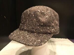 Gap Brown Tweed Lined Newsboy Poor Boy Style Hat Cap S M Adjustable ... 9b6a032b05e9