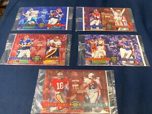 1993 NFL UPPER DECK SUPER BOWL SHOWDOWNS SERIES COMPLETE SET 1-5