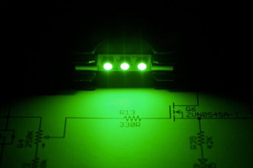 Set of 4 Pop-in EMERALD GREEN LED Fuse Lamps for Vintage SPEC-2 & SPEC-4 Meters