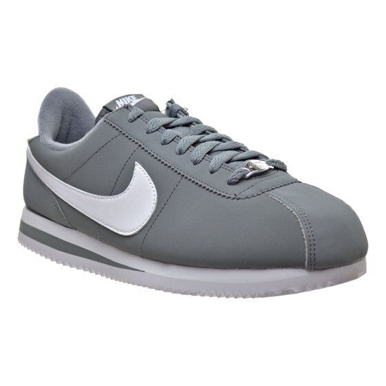 IN lid) BOX (no lid) IN Nike Men's 820644 011 Cortez Basic Nbk Casual Shoe Gray White 9e42b4