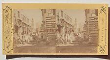 Le Caire Egypte Photo Stereo Pascal Sébah Vintage albumine ca 1870