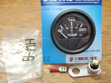 OUTBOARD CYLINDER HEAD TEMPERTURE TEMP GAUGE 60-220F WITH SENDER 678-12819 BOAT