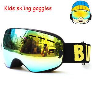 d3d468bbc40 Benice Kids Ski goggles UV400 Anti-fog Snowboard goggles Double Lens ...