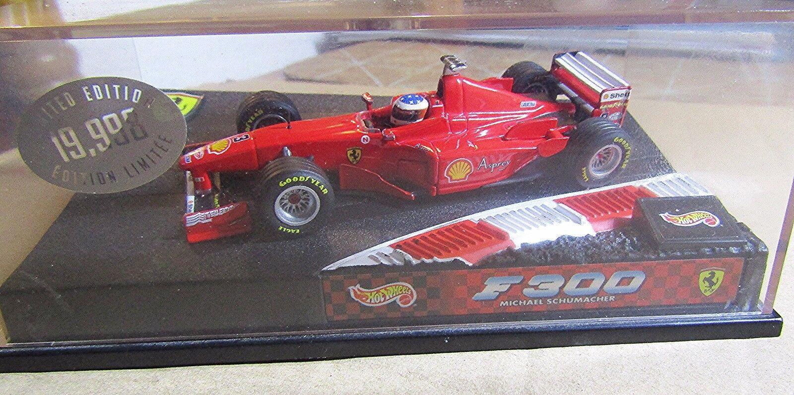 Hot Wheels Ferrari F300 escala 1 43  Edición Limitada 19 998  Rojo