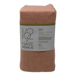 Project 62 Nate Berkus King Size Jersey Blend Solid Pillowcase Set Dark Peach