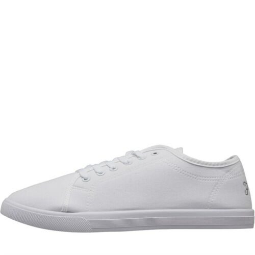 FARAH Jeans Switch Canvas Shoes Off  Mens Trainers White Size UK 6-11 MM1093